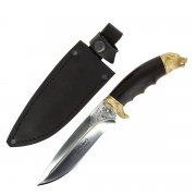 Разделочный нож Сафари-1 (сталь Х12МФ, рукоять черный граб)