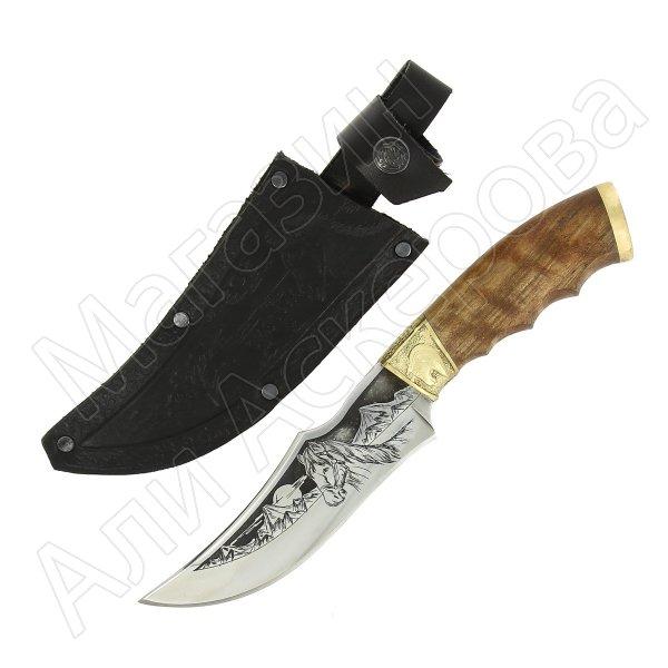 Разделочный нож Мустанг (сталь Х12МФ, рукоять дерево)