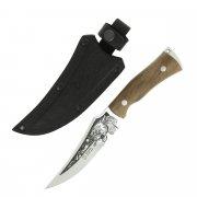 """Кизлярский нож туристический """"Клык-2"""" (сталь - AUS-8, рукоять - дерево, худож. оформление)"""