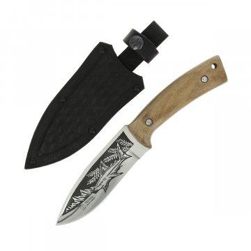"""Кизлярский нож туристический """"Акула-2"""" (сталь - AUS-8, рукоять - дерево)"""