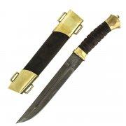Нож пластунский (дамасская сталь, рукоять венге)