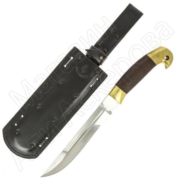 Нож пластунский в чехле (сталь - 95Х18, рукоять - венге) арт.5146