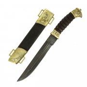 Нож пластунский (сталь - алмазная ХВ5, рукоять - венге, худож. литье)