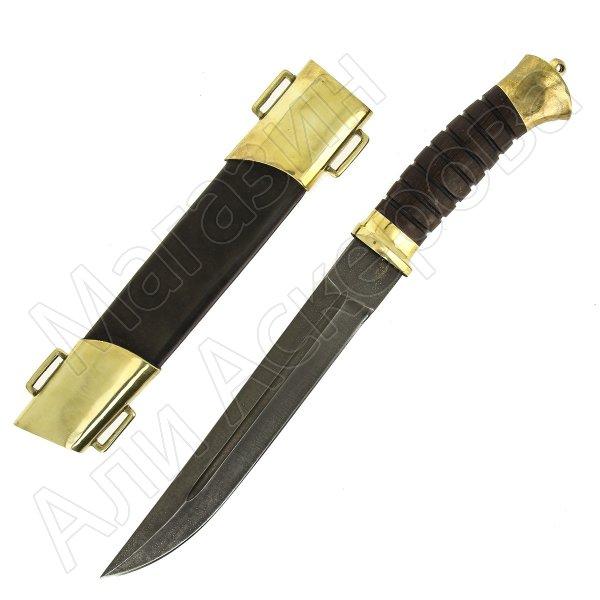 Нож пластунский (сталь алмазная ХВ5, рукоять венге)