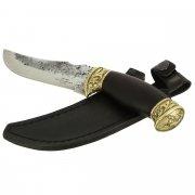 Разделочный нож Скорпион (сталь Х12МФ, рукоять черный граб) арт.5193