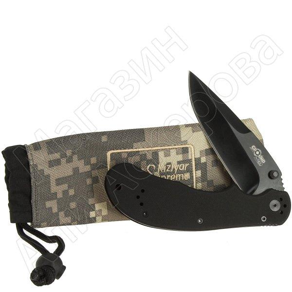 Складной нож Sagat (сталь 440C Black Titanium, рукоять G10)