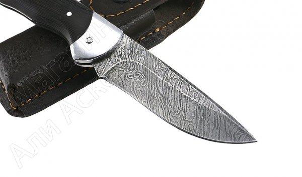 Складной нож Клык (дамасская сталь, рукоять дерево)