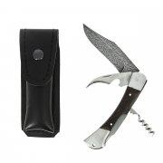 Складной нож Гусар (дамасская сталь, рукоять дерево, 3-х предметный) арт.5866