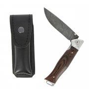 Складной нож Лесник-3 (дамасская сталь, рукоять дерево) арт.5871