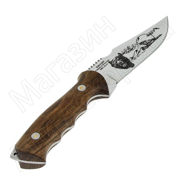 Разделочный нож Медведь (сталь Х50CrMoV15, рукоять орех)
