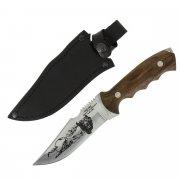 Разделочный нож Медведь (сталь Х50CrMoV15, рукоять дерево) арт.6026