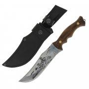 Разделочный нож Мустанг (сталь Х50CrMoV15, рукоять дерево) арт.6042