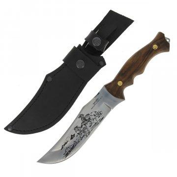 Разделочный нож Мустанг (сталь Х50CrMoV15, рукоять дерево)