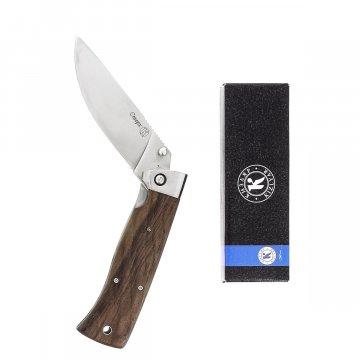 Складной нож Стерх Кизляр (сталь AUS-8, рукоять дерево, стальные притины)