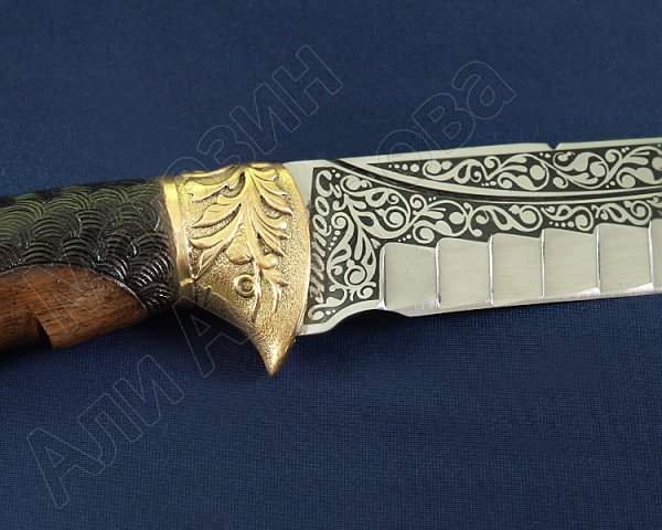 Туристический нож Зодиак (сталь 65Х13, рукоять дерево)