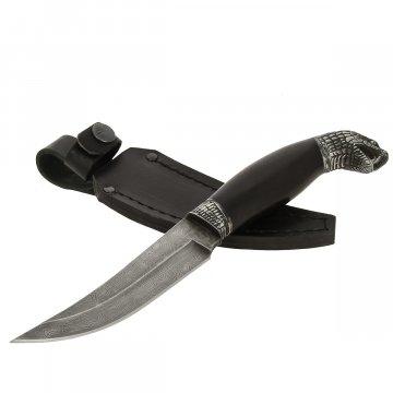 Кизлярский нож разделочный Аспид (дамасская сталь, рукоять черный граб)
