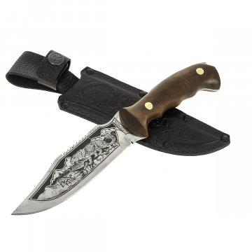 Разделочный нож Барс (сталь 65Х13, рукоять орех)