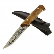 "Кизлярский нож разделочный ""Барс"" (сталь - Х50CrMoV15, рукоять - дерево) арт.8386"