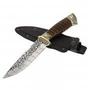 """Кизлярский нож туристический """"Беркут"""" с гардой (сталь - 65Х13, рукоять - дерево) арт.2081"""