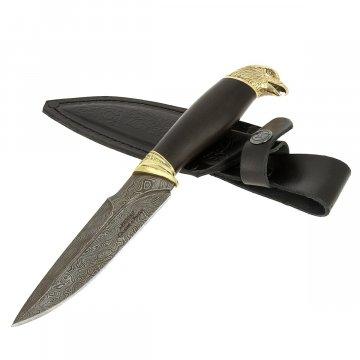 Кизлярский нож разделочный Беркут (дамасская сталь, рукоять черный граб)