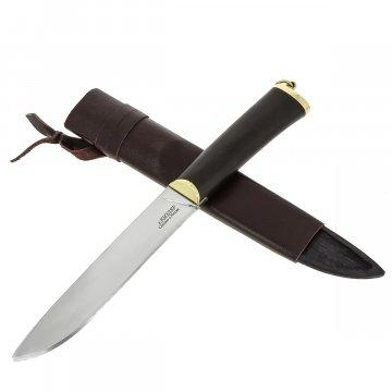 Разделочный нож Бичак (сталь 65Х13, рукоять черный граб)