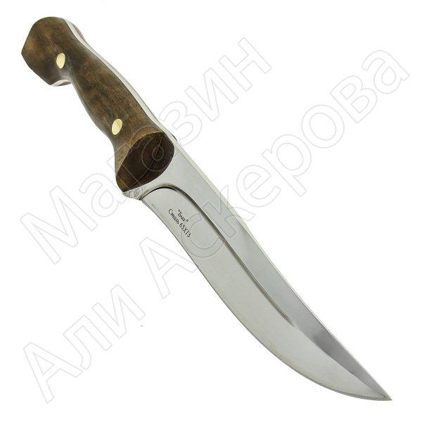 Разделочный нож Бык (сталь 65Х13, рукоять орех)