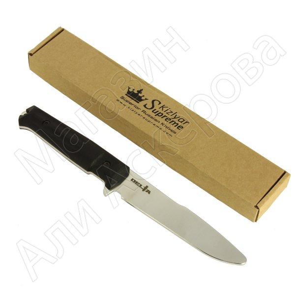 Тренировочный нож Delta Kizlyar Supreme (сталь 40Cr13, рукоять кратон)