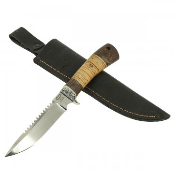 Нож Ерш (сталь 95Х18, рукоять венге, береста)