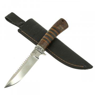 Нож Ерш (сталь 95Х18, рукоять дерево, кожа)
