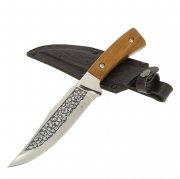 """Кизлярский нож туристический """"Ф-1"""" (сталь - AUS-8, рукоять - дерево) арт.6240"""