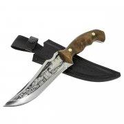 Разделочный нож Гризли (сталь 65Х13, рукоять дерево)