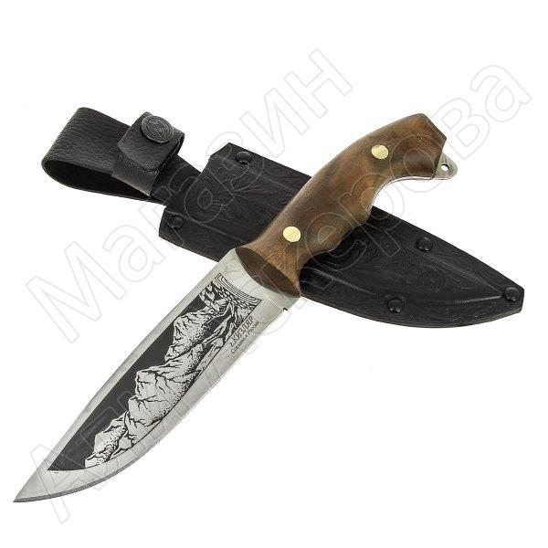 Разделочный нож Хазар (сталь 65Х13, рукоять орех)