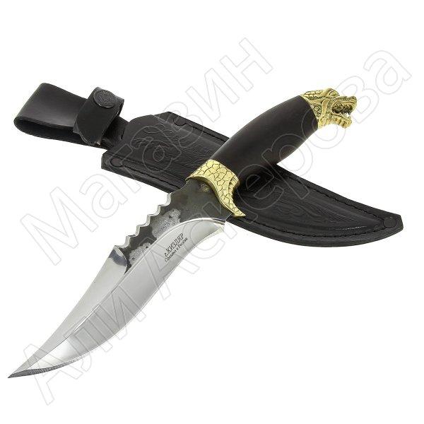 Разделочный нож Хищник (сталь Х12МФ, рукоять черный граб)