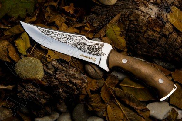 Нож разделочный Кизлярский (сталь AUS-8, рукоять орех)