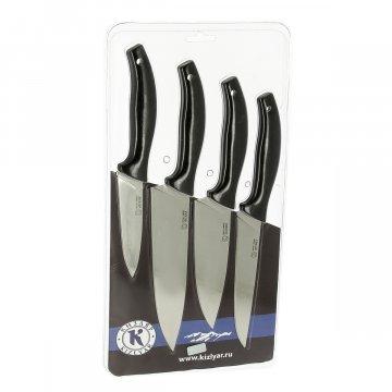 Набор кухонных ножей Квартет Кизляр (сталь AUS-8, рукоять эластрон)