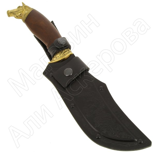 Кизлярский нож разделочный Мустанг (сталь Х50CrMoV15, рукоять орех)