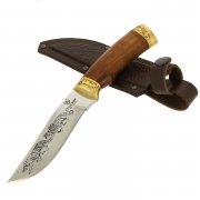 Нож Охотник (сталь Х50CrMoV15, рукоять дерево) арт.8385