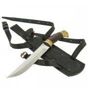Нож пластунский в чехле (сталь 65Х13, рукоять венге, худож. литье)