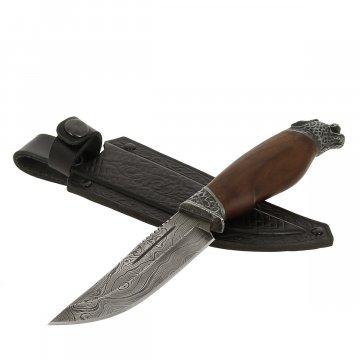 Нож Рысь (дамасская сталь, рукоять дерево)