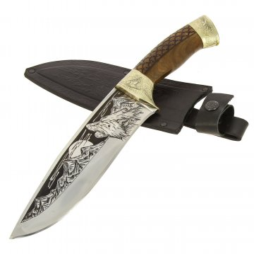 Разделочный нож Сафари-2 (сталь 65Х13, рукоять дерево)