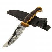 """Кизлярский нож туристический """"Скиф"""" (сталь - 65Х13, рукоять - дерево) арт.8356"""