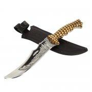 Разделочный нож большой Скорпион (сталь 65Х13, рукоять дерево)