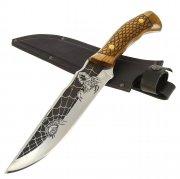 Разделочный нож Скорпион (сталь 65Х13, рукоять дерево)