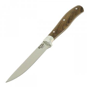Кухонный нож Стелла-3 со стальной притиной (сталь 65Х13, рукоять дерево)