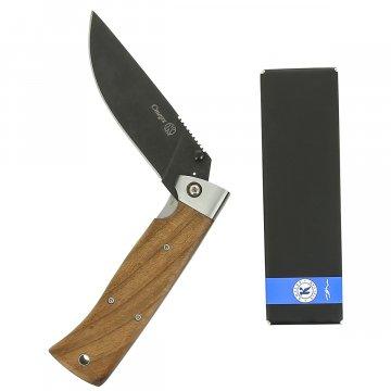Складной нож Стерх Кизляр (сталь Х12МФ, рукоять дерево, стальные притины)