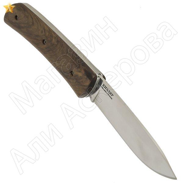 "Кизлярский нож складной ""Т-2"" (сталь - Х50CrMoV15, рукоять - дерево) арт.11034"