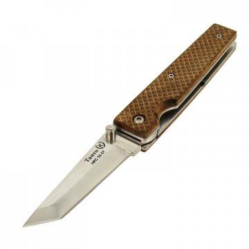 Складной нож Танто (сталь Х50CrMoV15, рукоять - дерево)
