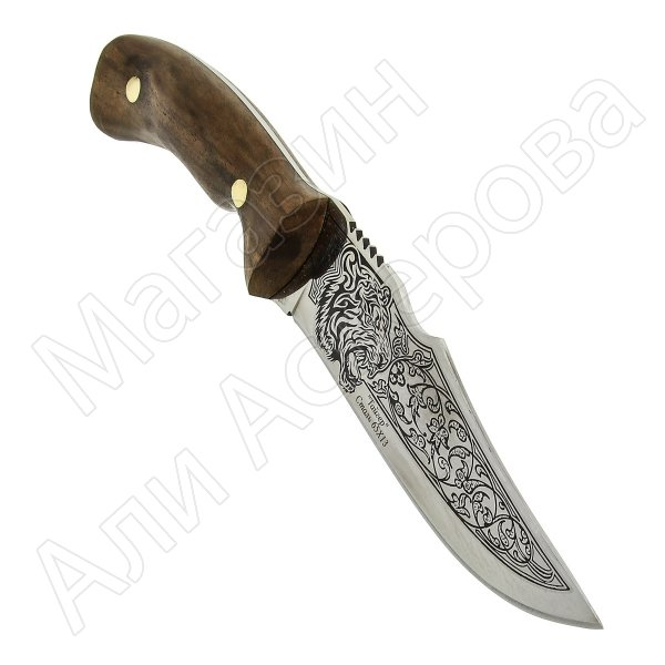 Разделочный нож Тайгер (сталь 65Х13, рукоять орех)