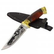 "Кизлярский нож туристический ""Варан"" (сталь - 65Х13, рукоять - дерево) арт.2342"