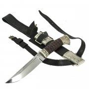 Нож пластунский Витязь (сталь - 95Х18, рукоять - венге, худож. литье) арт.9103